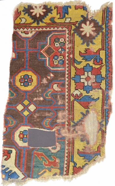 This exceptional 17th century Anatolian fragment represents a stratum of Near Eastern weaving not largely preserved in Anatolia and the West. Most probably woven in Eastern Anatolia, it blends elements of Northwest  ...