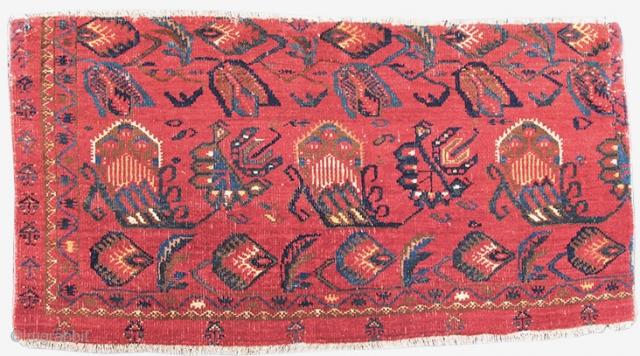 "Bashir Fragment, 19th C (3rd Q), size= 1'0""x 3'0"" RUG ID:16942  