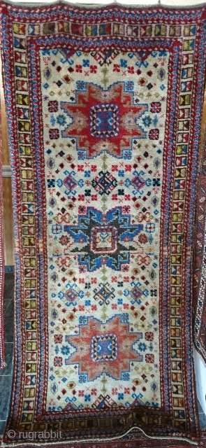 antik  kazak 113x253cm
