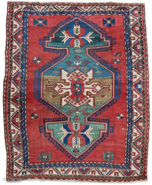 Antique Caucasian Kazak 7.9x5.7 feet