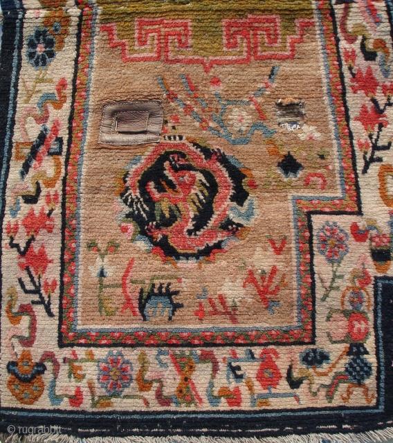 tibetan saddle, wonderful palette, perfect condition