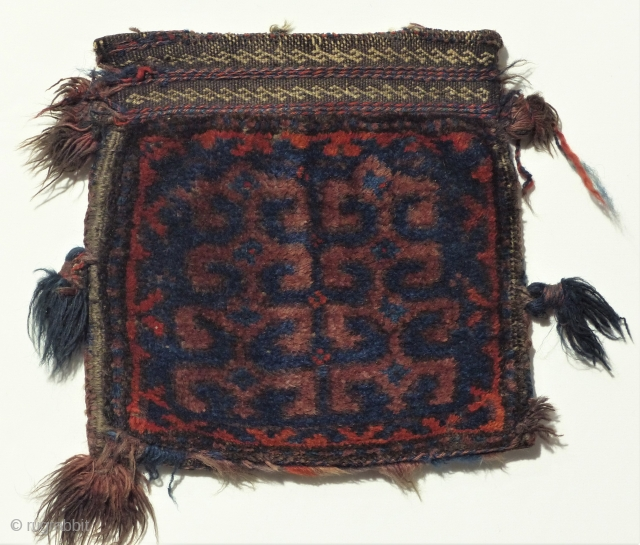Very rare Beluch double bag, original natural colors and great condition. End of 19th century