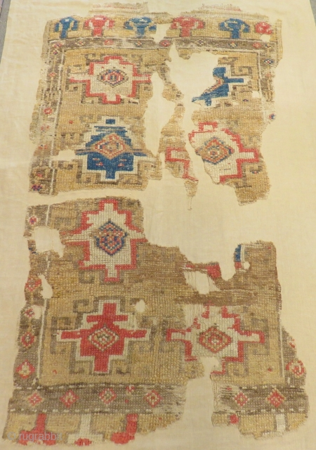 18th Century Central Anatolian Kapatokya Fragment Carpet Size.185x108cm