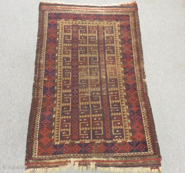 Antique Baluch Carpet Size.105x75cm