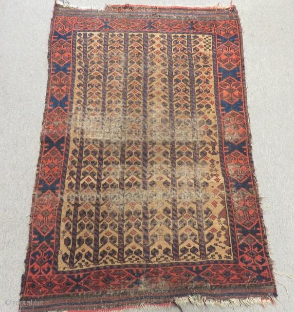 Antique Baluch Carpet Size 127x90cm