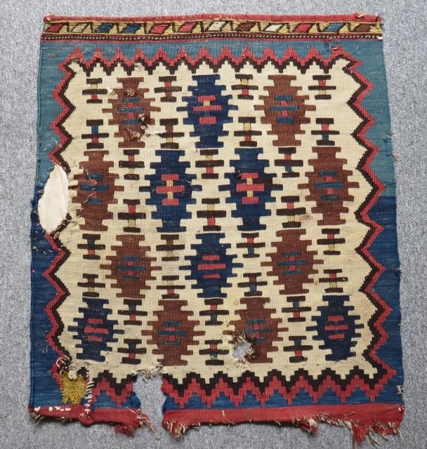Antique Shahsavan Kilim Bagface Size.65x58cm