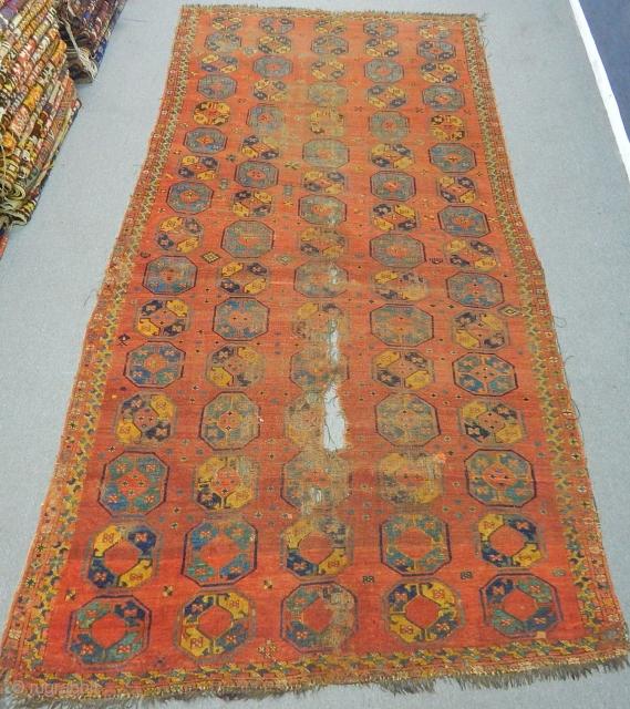 Antique Türkmen Beshir Carpet Size.332x170cm