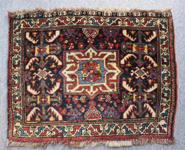 Antique Khamseh Bagface Some places have silk Size.73x56cm