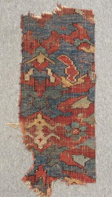 18th Century West Anatolian Ushak Fragment Rug Size.70x30cm