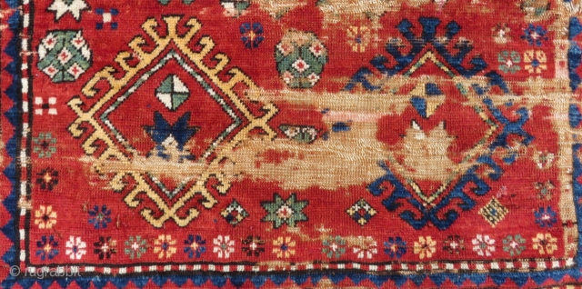 Antique Caucasian Fragment Rug Size.122x68cm
