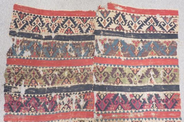 18th Century East Anatolian Kilim Fragment Size.220x160cm