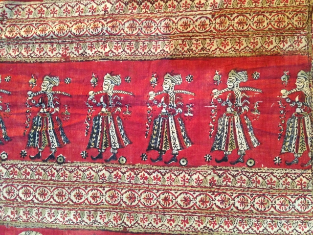 Beautiful Indian Kalamkar Probably Moghol, big size 350/180, great condition apart few very small repare, rare Piece