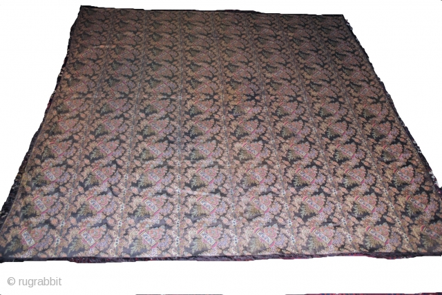Very Rare 1850 c woven French shawl, in Great condition, nice colours and unique Pattern, size is about 180/180 cms