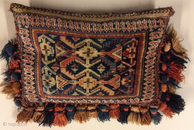 Antique Ghasgai filled bagface  ca. 1880
