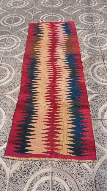 Eye-catching karadagh runner kilim 