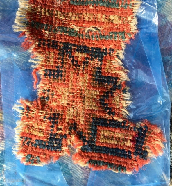Small Ushak C18th  Rug Frag 14 cm *10 cm