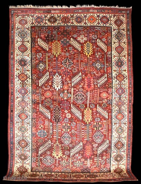 1292 Shekarlu late nineteenth century. In excellent condition with all natural dyes. 7'5 x 5'5 - 226 x 166 check my website purdon.com for new additions and my rug rabbit pages