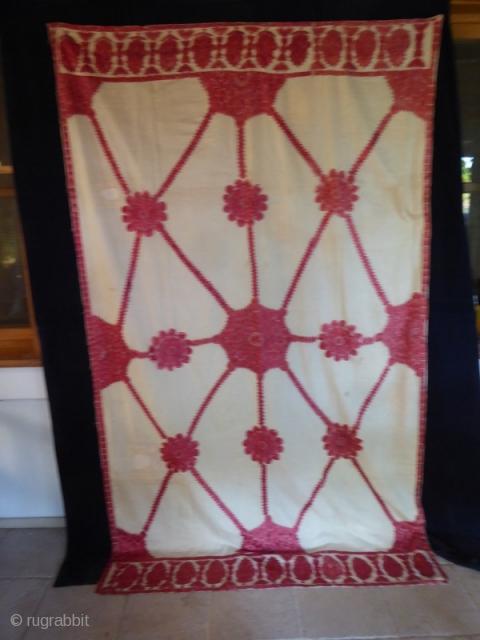 Ref 1518 Wedding Shawl from Sind 7'4 x 4'2 - 224 x 132 In good condition