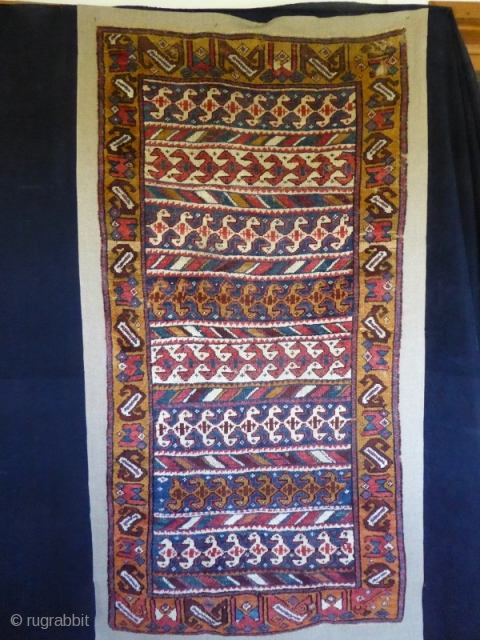 Ref 1534 Old and unusual North West Persian.  Circa 1850. 6'0 x 2'11 - 183 x 89