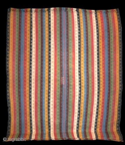 Ref 1419  South West Persian Qashqai twill weave known as Moj. Nineteenth century all intense colours about 8' x 5'