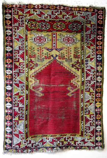 Prayer rug, Karapinar, late 19th century. 