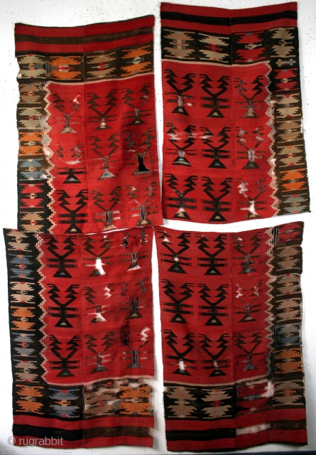 antique Bulgarian fragments of a complete kilim.