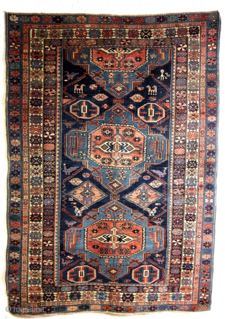 Konaghend, Caucasus. 1910 1920.  137 x 190 Cms.  Not a Soumack but knotted carpet.   SOLD ON CATAWIKI