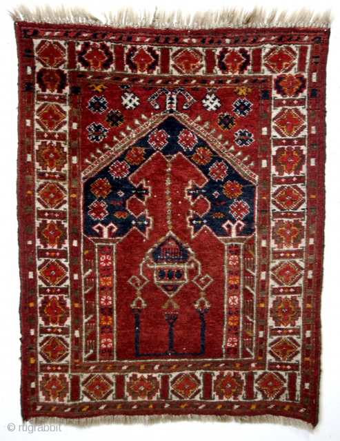 prayer rug, Abu Dahria area, mid 20th century. 
