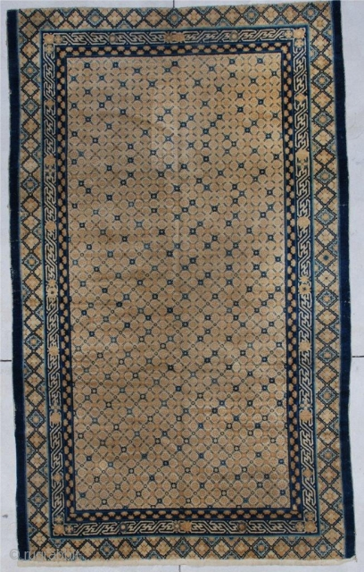 #6882 Very Antique Kansu Chinese Rug 