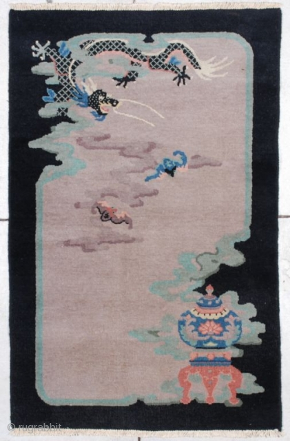 #7031 Antique Art Deco Chinese Rug 