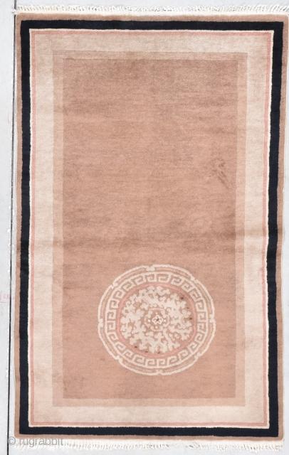 "Art Deco Chinese Oriental Rug  #7907 Age: circa 1935  Size: 3'2"" X 5'0""  https://antiqueorientalrugs.com/product/art-deco-chinese-oriental-rug-32-x-50-7907/"