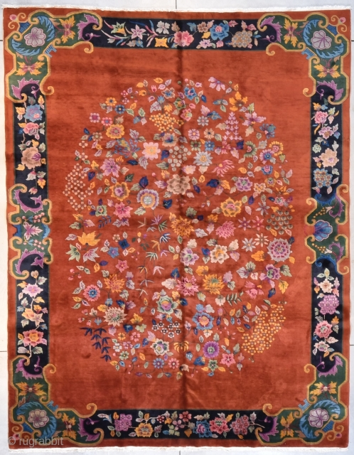 #7693 Art Deco Chinese Rug