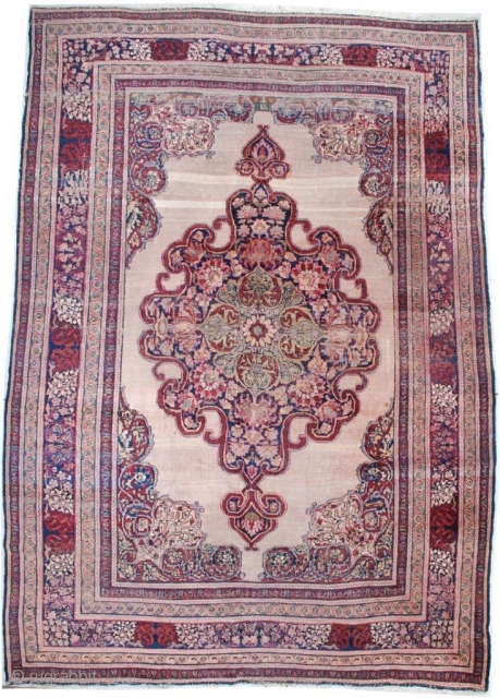# 7072 Antique Kermanshah Persian Rug