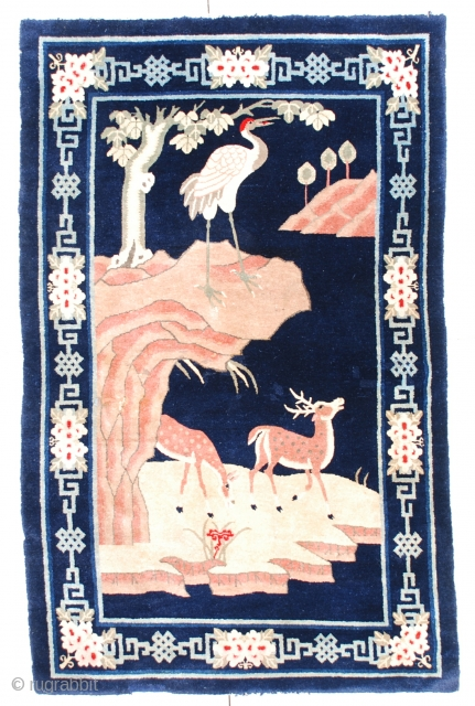 #6688 Antique Mongolian Rug