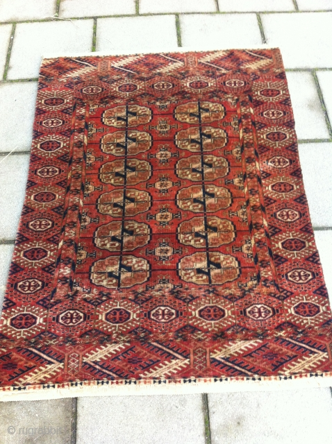 Turkmen 82 x 112 cm, nice piece in a condition (rug was once wider)