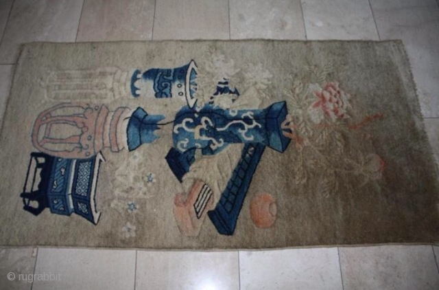 antique Chinese rug 150 x 78 cm,