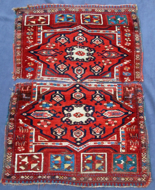 "Early finely woven fragmented Yastik most probably emanating from ancient eastern Turkic lands, pashmina wool, original selvedges, 36"" X 25""[92 X 64cm]"