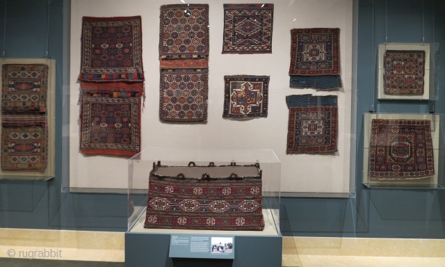 Images from the current exhibition of tribal bags, Portable Storage: Tribal Weavings from the Collection of William and Inger Ginsberg on display at the Metropolitan Museum of Art, 9/25/17-5/7/18. http://www.rugrabbit.com/content/tribal-bags-met