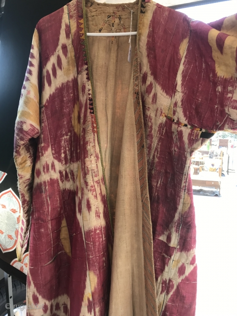 19th C. Uzbek Ikat Chapan