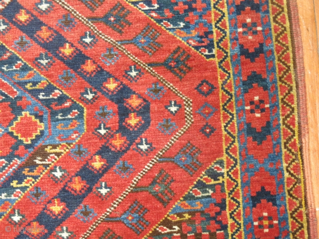 Antique Ersari.  Size is 6'1''x13'3''.