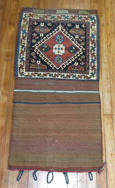 Antique Gashgai or Shiraz bagface.  Excellent condition.  2'x4'