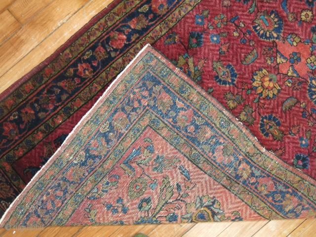 Antique Persian Sarouk.  Unique in all ways.  Painted.  Size 2'8''x6'5''.  Condition is excellent.