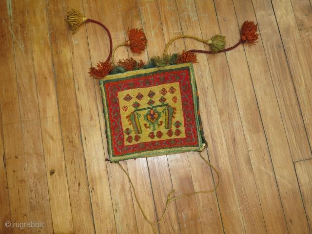 Vintage Persian Safron Bagface.  Size 10''x10''