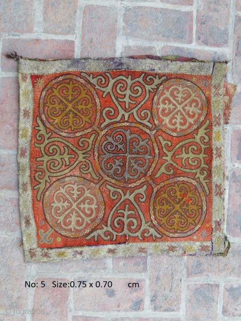 E20thC Central Asian embroidery, probably Kyrgyz
