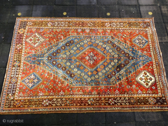 Antique Persian Shiraz very nice colors and excellent condition all original full pile  Circa 1910