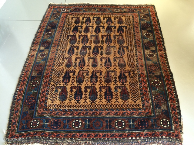 Antieque Baluch rug, 117x150 cm Some condition issues