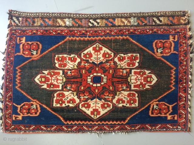 Antique Afshar bagface 56x86cm  Circa 1900