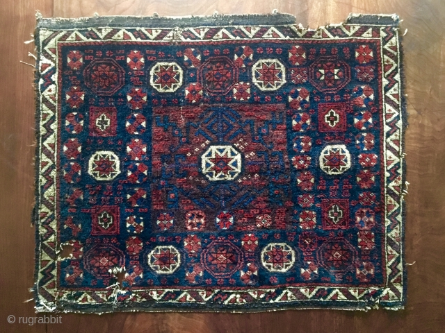 Timuri Baluch star in octagon. 'Baluchi Mac BagFace' Early, soft, peppered back