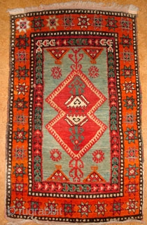 Anatolian yastik, Sivas area, 1900 - 1920.