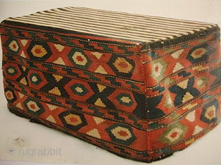 Shahsavan Mafrash 1900 - 1920.  All in wool.